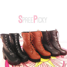 Load image into Gallery viewer, Yellow/Brown/Black Sweet High Heel Boots SP1710573