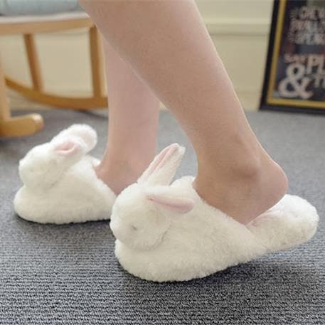 Kawaii Fluffy Bunny Slippers SP1711335