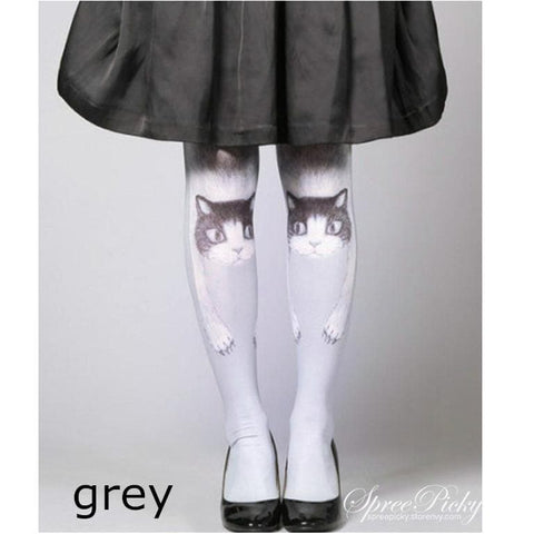 Lolita Harajuku Lovely Kitten Embrace Your Legs Printing Tights SP140510 - SpreePicky  - 1