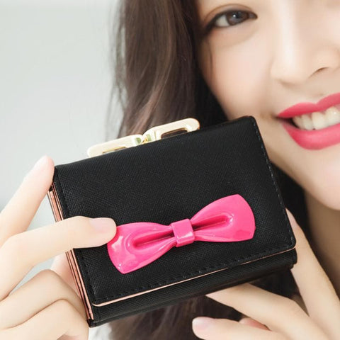 8 Colors Cutie Bowknot Short Wallet Purse SP153528 - SpreePicky  - 4
