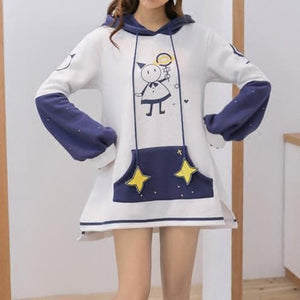Starry Night Magical Girl Hoodie Dress SP1711275
