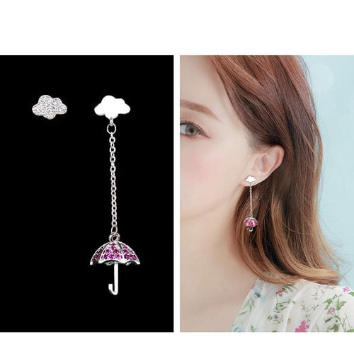 Sweet Cloud Umbrella Earrings SP1811901