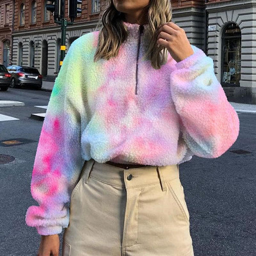 Sweet Rainbow Fluffy Coat SP14437