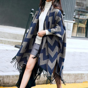 Sweet Tassels Warming Poncho Cape SP1710904