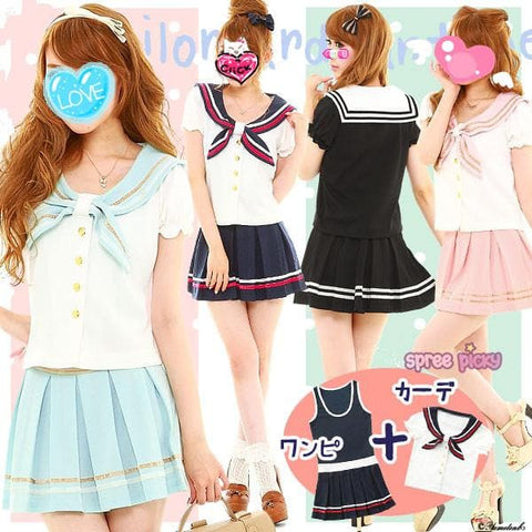 M-2XL Sailor Seifuku Uniform Dress Set SP130122