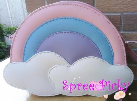 Lolita lovely rainbow bag - pink/blue SP130227 - SpreePicky  - 2