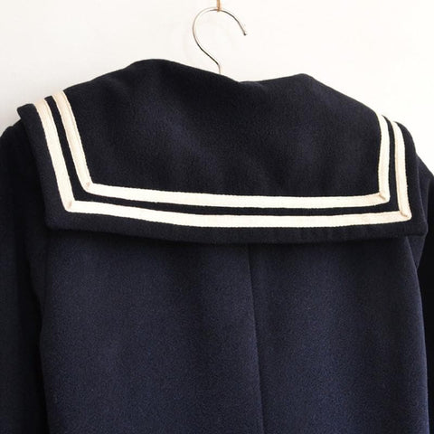 J-fashion Winter Sailor Woolen Coat SP130284 - SpreePicky  - 7