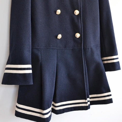 J-fashion Winter Sailor Woolen Coat SP130284 - SpreePicky  - 8
