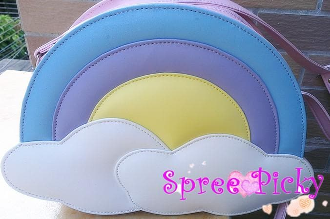Lolita lovely rainbow bag - pink/blue SP130227 - SpreePicky  - 1