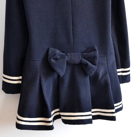 J-fashion Winter Sailor Woolen Coat SP130284 - SpreePicky  - 9