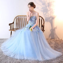 Load image into Gallery viewer, Stylish Tulle Lace Long Prom Dress, Lace Evening Dress - DelaFur Wholesale