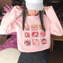Load image into Gallery viewer, Pink White Yellow Sailor Moon Cute Printed Shirt SP14490 - SpreePicky FreeShipping