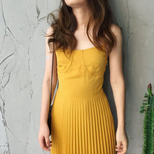 Load image into Gallery viewer, Yellow Chiffon Dress - DelaFur Wholesale