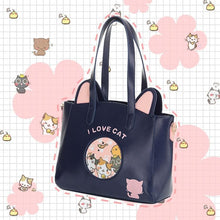 Load image into Gallery viewer, [Neko Atsume] Kawaii Kitty Cat Shoulder Bag/Cross-body Bag SP154531