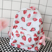 Load image into Gallery viewer, Kawaii Strawberry Printing Backpack SP166897 - SpreePicky FreeShipping