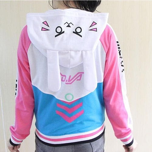 Final Stock! S-2XL Overwatch DVA Baseball Hoodie Coat SP168279