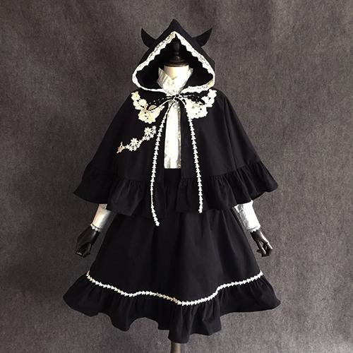 Black Devil Halloween Cape Coat SP14512