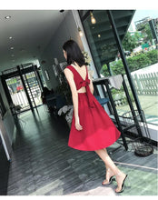 Load image into Gallery viewer, Cute V Neck Short Dress,  Summer Dress, Party Dress - DelaFur Wholesale