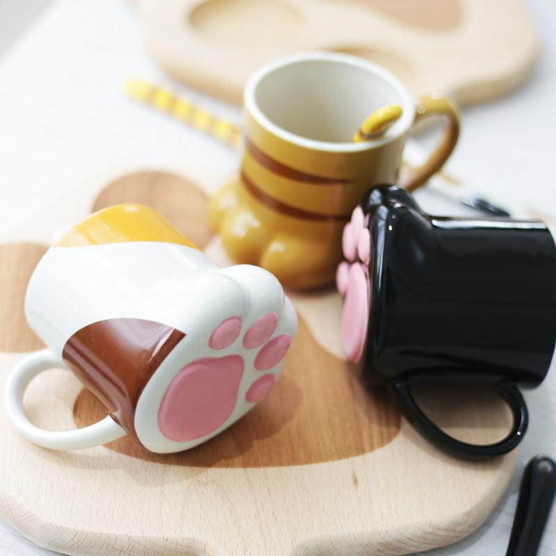 0267e737632 ... Load image into Gallery viewer, Kawaii Cat Paw Mug Cup SP168345 ...