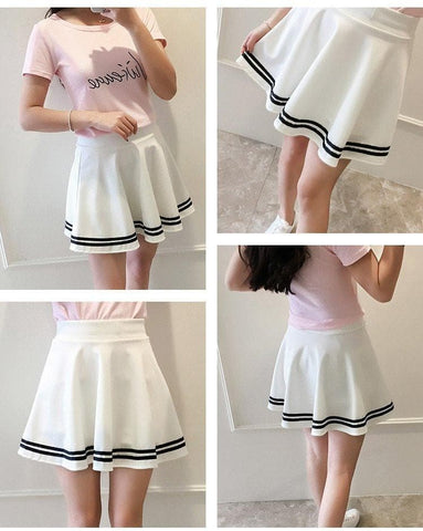 Preppy Style High Waist Skort SP179875