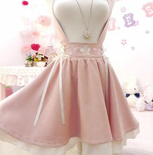 Load image into Gallery viewer, Pink Sakura Suspender Skirt Strap Dress SP14499