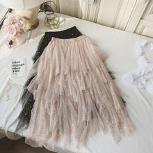 Load image into Gallery viewer, Champagne Tulle Fashion Girl Skirt, Skirt, Fashion Dress - DelaFur Wholesale