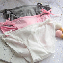 Load image into Gallery viewer, Sexy Side Tie Close Panties Cute Rabbit Tail Underwear SP098
