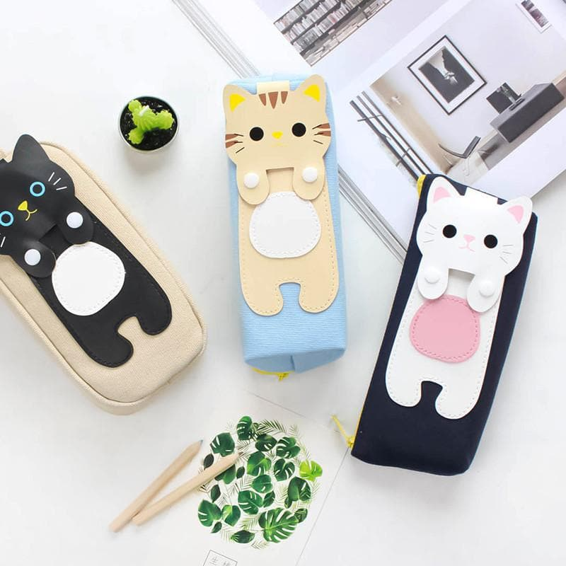 Kawaii Kitty Cat Canvas Pencil Case SP179621