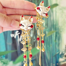 Load image into Gallery viewer, Fox Rabbit Hairpin Tassels Hair Clip SP15135