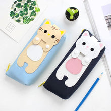Load image into Gallery viewer, Kawaii Kitty Cat Canvas Pencil Case SP179621