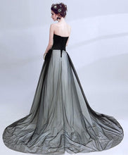 Load image into Gallery viewer, Black Tulle Long Prom Gown, Cheap Evening Dress - DelaFur Wholesale