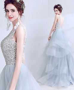 Amazing Tulle Lace Long Prom Dress, Formal Dress - DelaFur Wholesale