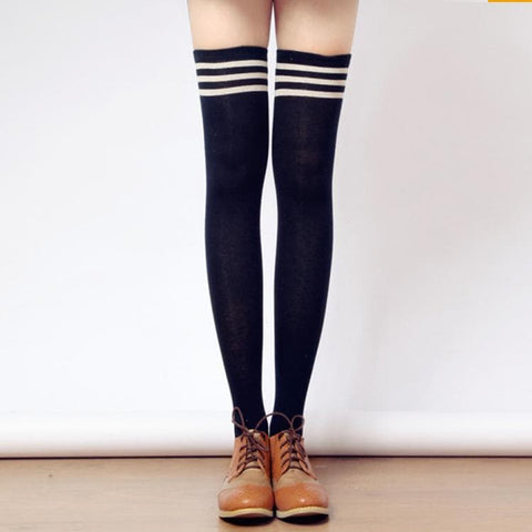 Tall Girls! 8 Colors Stripes Thigh High Long Socks SP153727