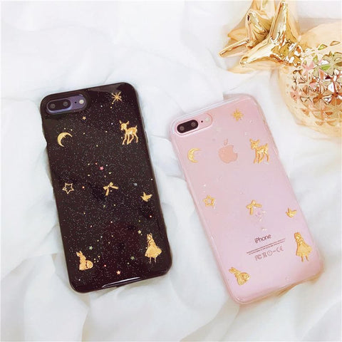 Transparent/Black Fairytale Stars Deer Phone Case SP1711419