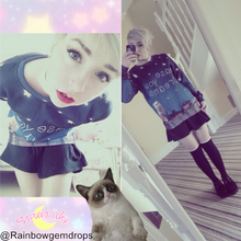 Load image into Gallery viewer, UNISEX Adorable Dreamy Cat Galaxy Sweater Jumper SP141511 - SpreePicky  - 2