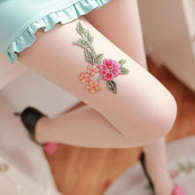 Load image into Gallery viewer, Vintage Paeonia Embroidery Tights SP1811763