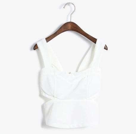 White/Black Korean Cute & Sexy Bustier Top SP152479 - SpreePicky  - 3