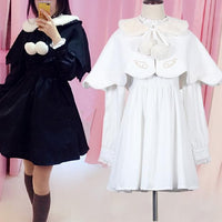 c59a27595c White Black Removable Cape Lolita Dress S13143