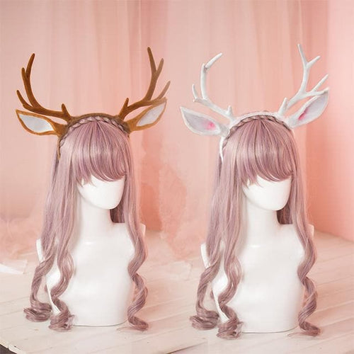 White/Brown Kawaii Deer Hairband SP1710892