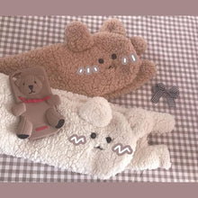 Load image into Gallery viewer, White/Brown Kawaii Plush Bear Scarf SP14227 - SpreePicky FreeShipping