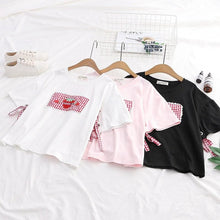 Load image into Gallery viewer, White/Pink/Black Sweet Strawberry Laced Tee Shirt SP13956