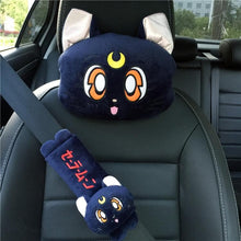 Load image into Gallery viewer, White/Pink/Blue Kawaii Sailor Moon Car Pillow/Shoulder Pad SP13330
