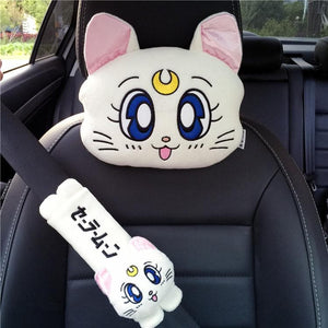 White/Pink/Blue Kawaii Sailor Moon Car Pillow/Shoulder Pad SP13330