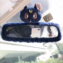 Load image into Gallery viewer, White/Pink/Blue Sailor Moon Car Interior Mirror Cover SP13678