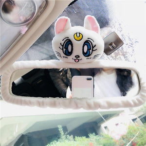 White/Pink/Blue Sailor Moon Car Interior Mirror Cover SP13678
