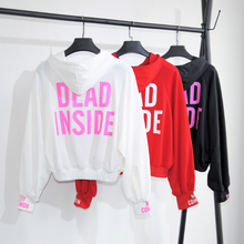 Load image into Gallery viewer, White/Red/Black Dead Inside Hoodie Jumper SP1711059