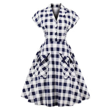 Load image into Gallery viewer, White Pockets Swing Dress SP13892