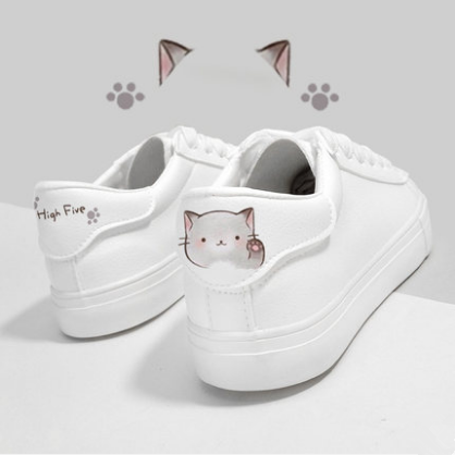 White Kawaii Ainmal Sneakers SP13463