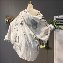 Load image into Gallery viewer, White Loose Harajuku Printing Coat S12790