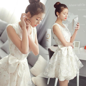 White Sweet Lace Tulle Princess Dress SP1710905